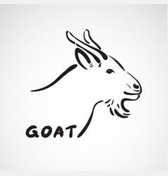 Goat head on white background farm animals vector