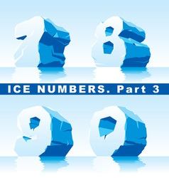ice numbers Part 3 vector image