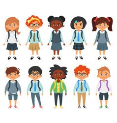 international school kids vector image