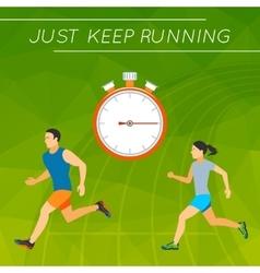 Just Keep Running vector image