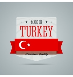 Made in Turkey badge vector image