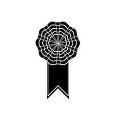rosette decoration banner element silhouette vector image