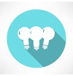 three lamp icon vector image