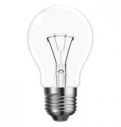 tungsten light bulb vector image vector image
