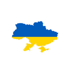 ukraine flag and map vector image vector image