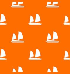 vietnamese junk boat pattern seamless vector image vector image
