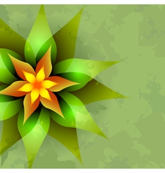 Vintage background with abstract flower vector image vector image