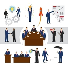 business people and teamwork vector image