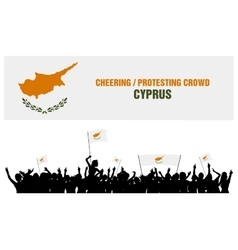 Cheering or protesting crowd cyprus vector