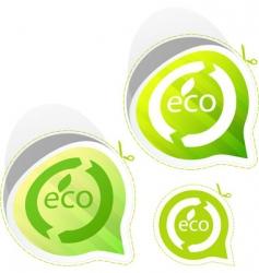 eco sticker set vector image