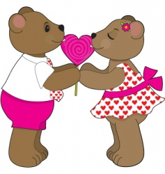 lollipop bears vector image vector image