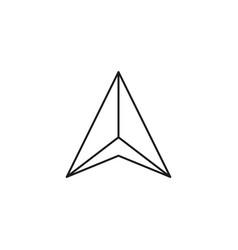 navigation arrow icon vector image
