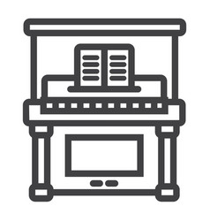 piano line icon music and instrument vector image vector image