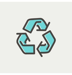 Recycle symbol thin line icon vector image vector image