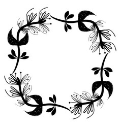 rustic square branches plant design vector image vector image