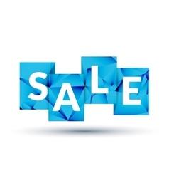 Blue SALE labels promotional concept vector image vector image