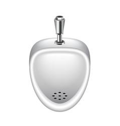 Ceramic pissoir isolated on white vector image vector image