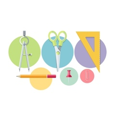 Icons of office tools vector image vector image