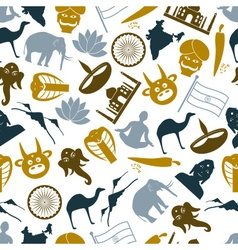 india country theme symbols icons pattern eps10 vector image vector image