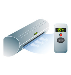 air conditioning and remote control vector image