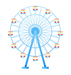 ferris wheel fun park in white background vector image