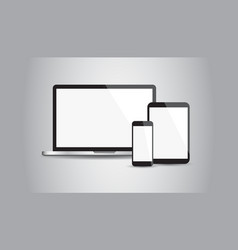 realistic device flat icons smartphone tablet vector image vector image