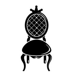 throne icon simple black style vector image