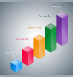 Abstract 3d infographic histogram vector