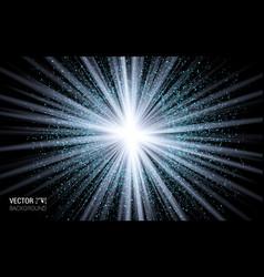 abstract magic light blue burst effect design vector image