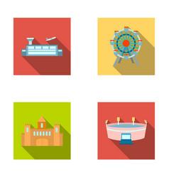 airport ferris wheel stadium castlebuilding vector image
