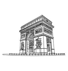Arc de triomphe or triumphal arch star vector