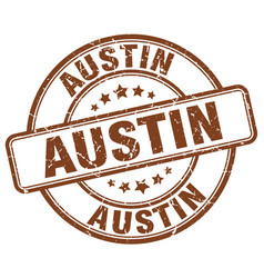 Austin brown grunge round vintage rubber stamp vector