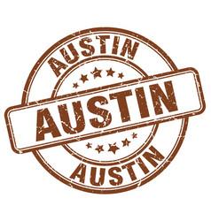 Austin brown grunge round vintage rubber stamp vector
