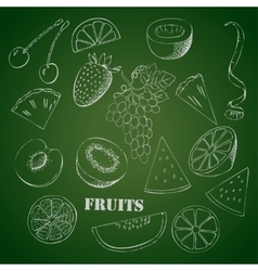 Background with fruit1-05 vector image