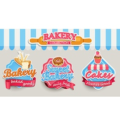 Bakery design template vector