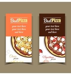 Banners Napoletana Cheese Pizza vector image