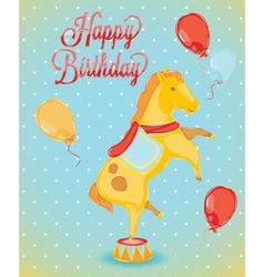 Birthday card horse vector image