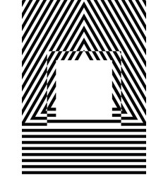 black and white stripes pattern background vector image