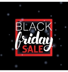 Black Friday Sale Lettering in Frame vector image