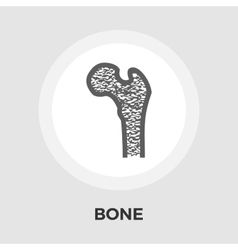Bone flat icon vector image
