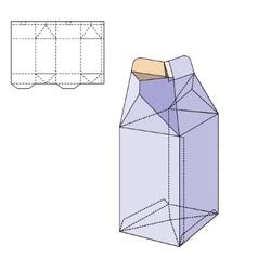 Box Die Line vector image