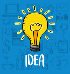 bulb light idea creativity business vector image