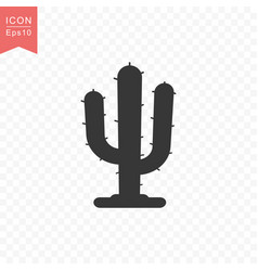 cactus plant icon simple flat style vector image