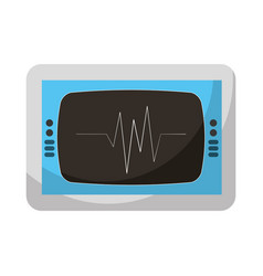 Cardiology ekg machine isolated icon vector