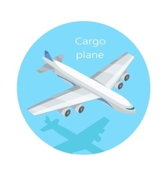 Cargo Plane Isolated Freight Aircraft Freighter vector