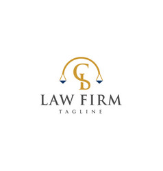 cb law logo design vector image