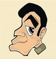 character man head vector image vector image