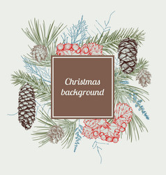 christmas hand drawn background vector image