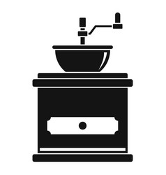 coffee mill icon simple style vector image