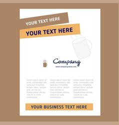 coffee title page design for company profile vector image